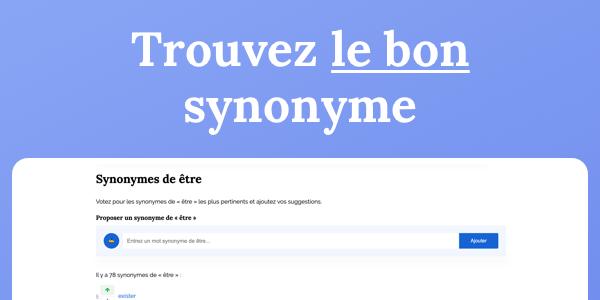 lebonsynonyme.fr